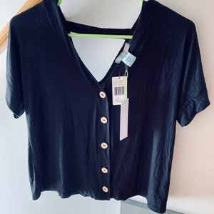 Black button blouse